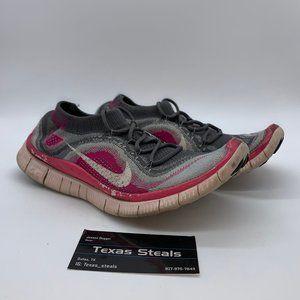 Women's Nike Free Flyknit Grey Pink